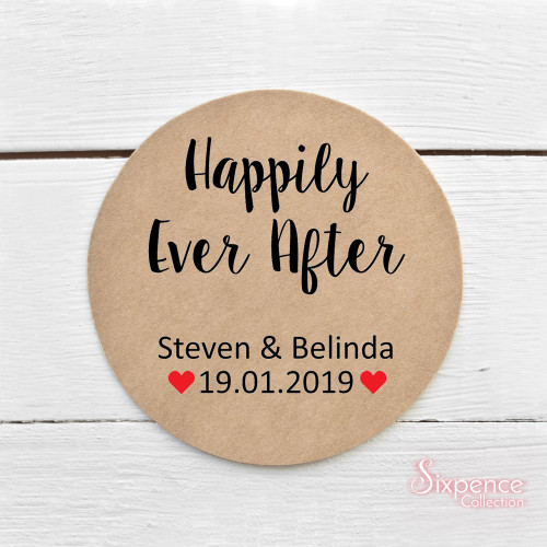 Happily ever after sticker labels
