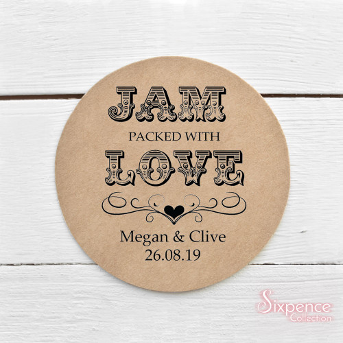 Jam packed with love Sticker Labels