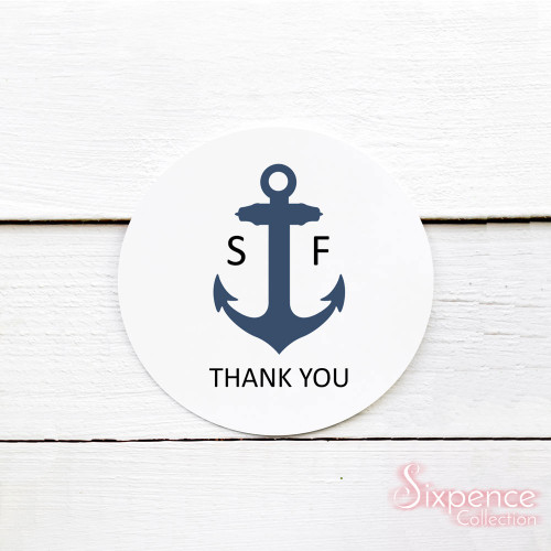 Nautical Wedding Thank You Stickers