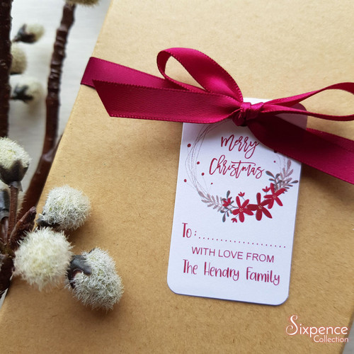 Ruby Personalised Christmas Gift Tags - White or Kraft Brown available