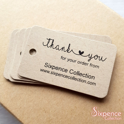 Thank you for your order business tags - Product tags, Etsy order tags, Website order tags, Small business tags.