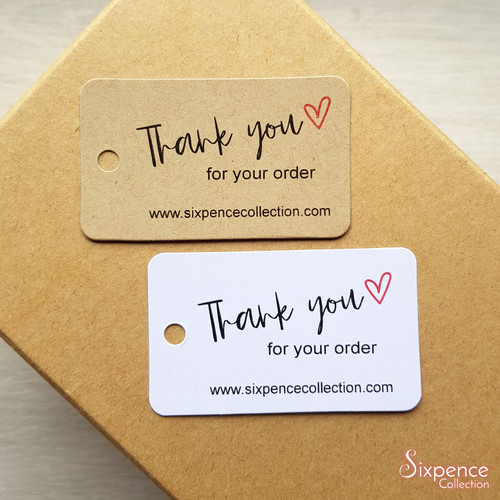 Thank you for order small business tags - Product tags, Etsy order tags, Website order tags.