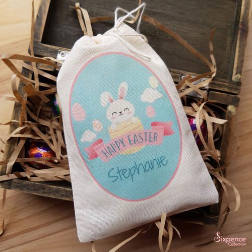 Personalised Easter Muslin Goodie Bags