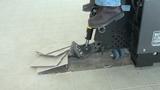 Ride-on scraper removing ceramic tile