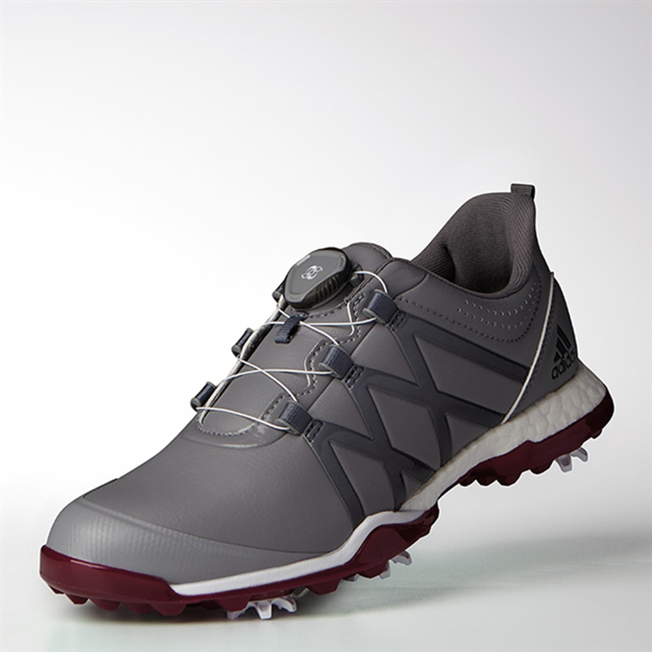 d58a80fca33 Adidas Womens Adipower Boost BOA Golf Shoe - Grey  Mystery Ruby ...