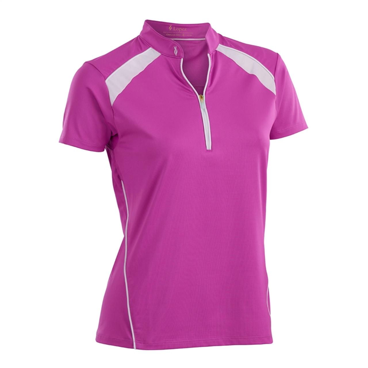 88e83d6bda6 Nancy Lopez Sporty Hot Pink Short Sleeve Polo