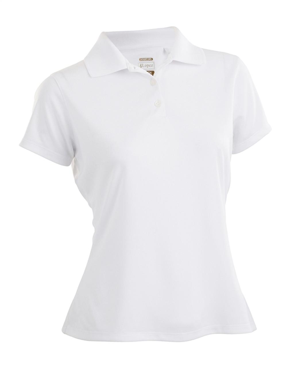 5faa4c2c41d Nancy Lopez Luster White Short Sleeve Polo