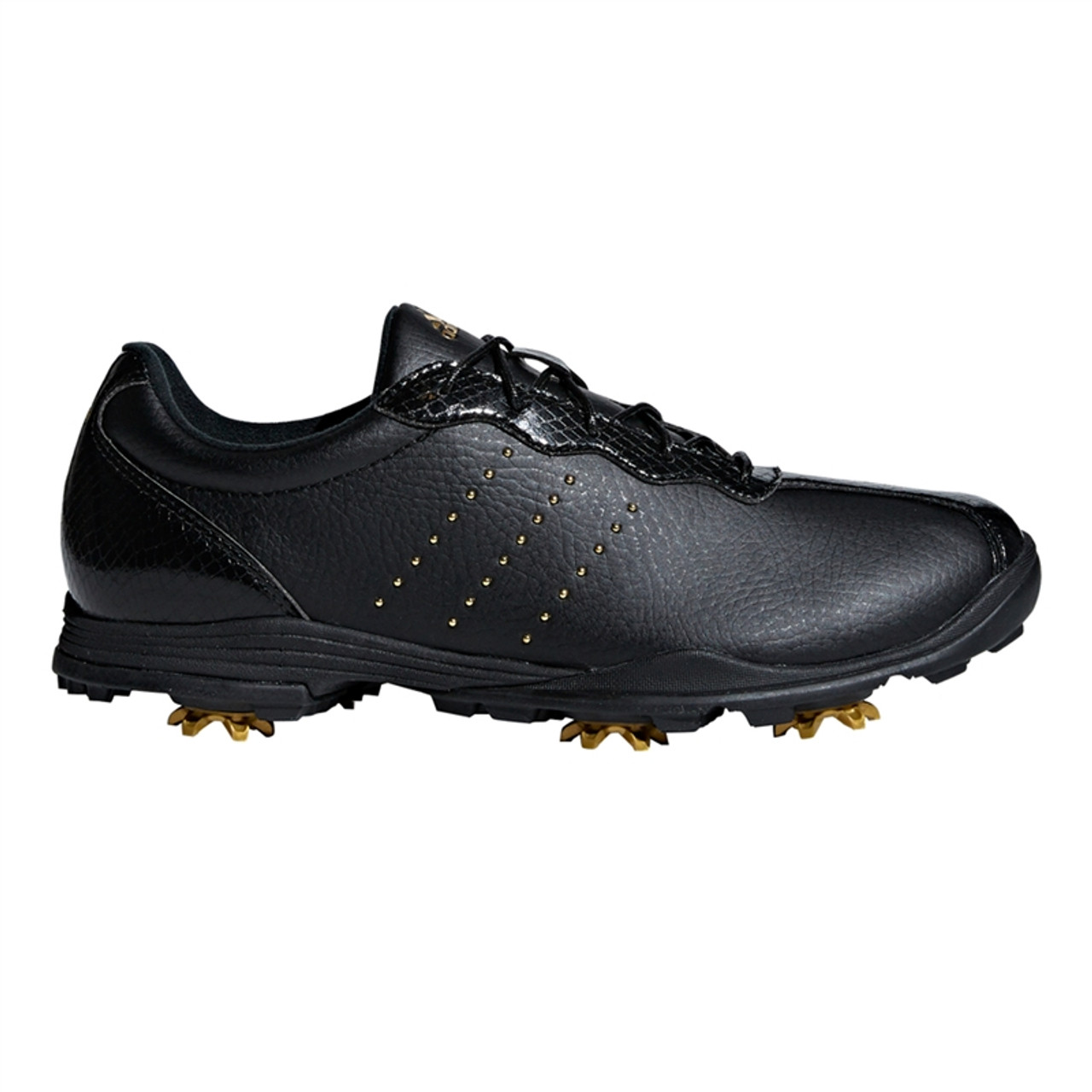 bdf99846b34395 Adidas adiPURE DC Golf Shoe - Black Gold