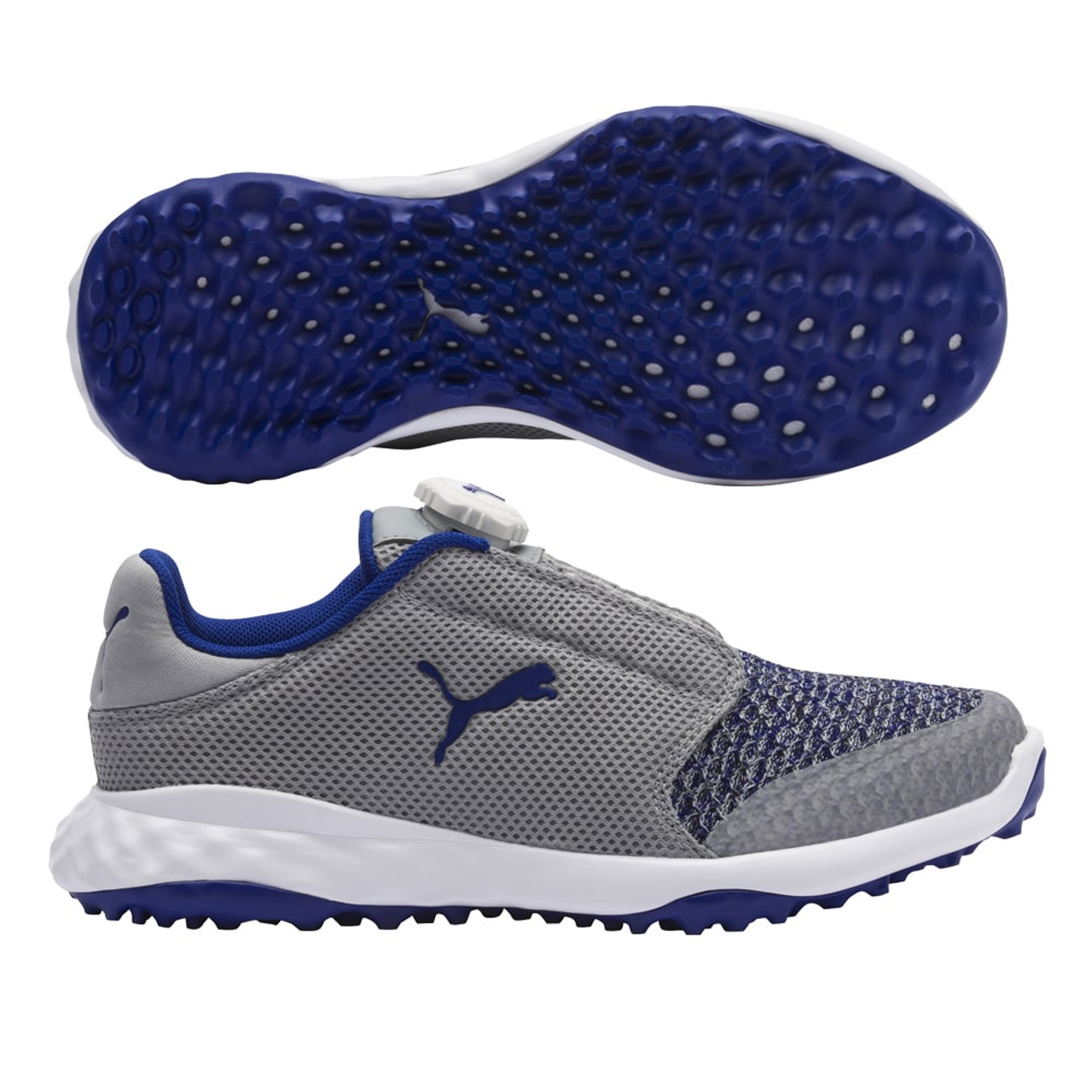 7a41c030a4f7a Puma Junior Grip Fusion Sport Disc Golf Shoe - Quarry/Surf The Web Blue