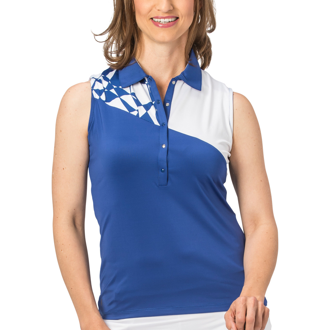 e2721015bdb Nancy Lopez Splice Sleeveless Polo