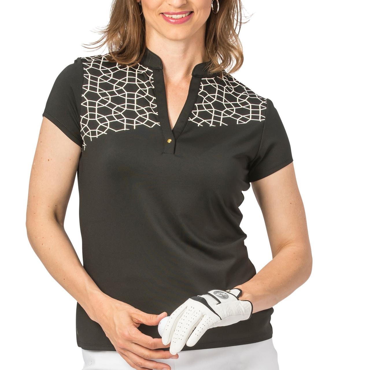 ae0b5ebc Nancy Lopez Legacy Short Sleeve Polo - Black   Golf4Her