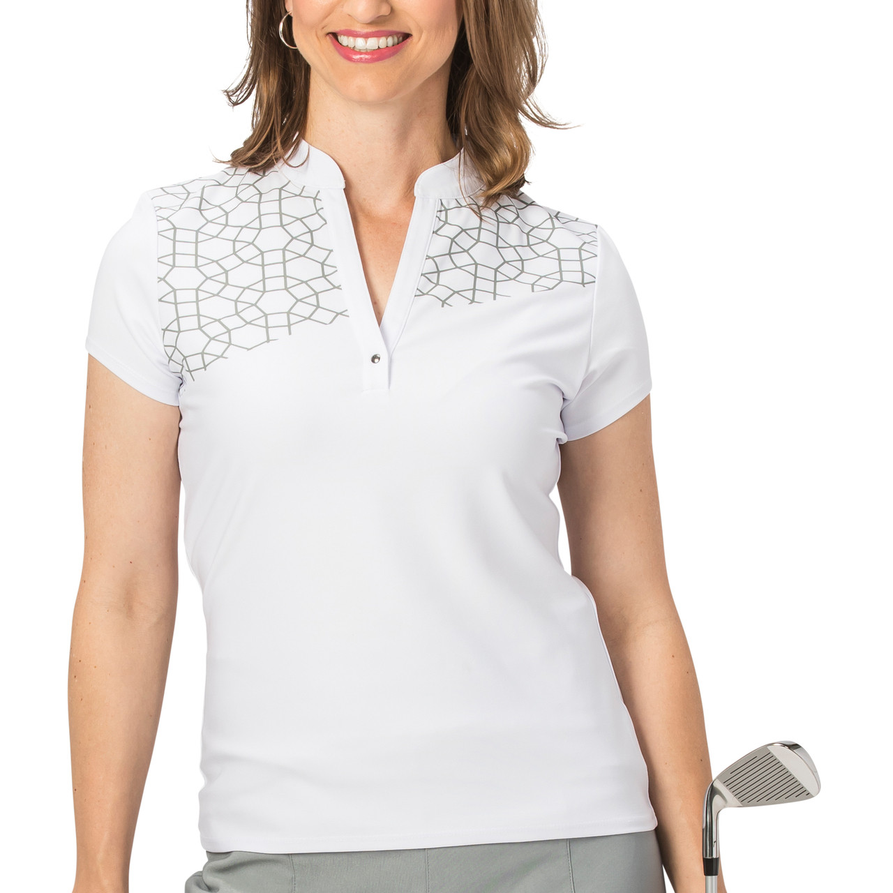 dc1bc24a Nancy Lopez Legacy Short Sleeve Polo - Silver | Golf4Her