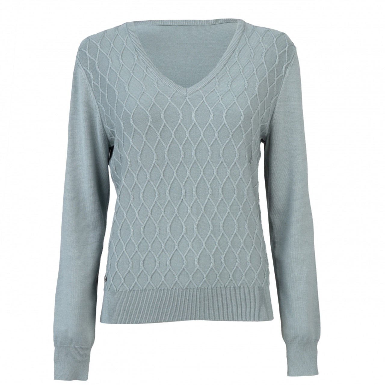 Daily Sports Amie Cable Knit Pullover Mist Golf4her