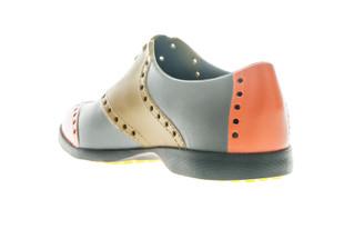 BIION Wingtips Golf Shoe - Gold, Pumpkin & Cool Grey