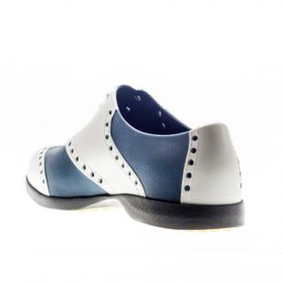 BIION Wingtips Golf Shoe - Silver & Navy