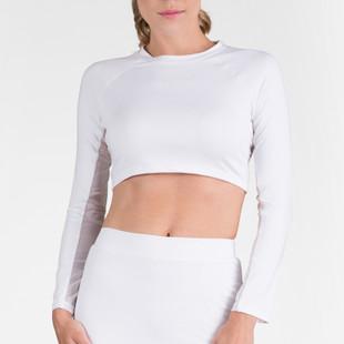 Tail Sasha Cropped Long Sleeve Top - White