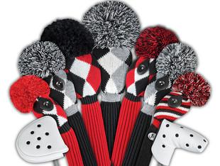 Just4Golf Hybrid Headcover - Red/Black Diamonds
