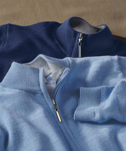 Bobby Jones Lined Wind Sweater - Heather Grey