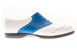 BIION Saddle Golf Shoe - White/Royal Blue