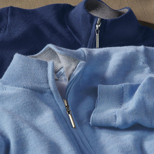 Bobby Jones Lined Wind Sweater - Summer Navy
