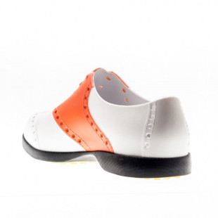 BIION Saddle Golf Shoe - White/Orange