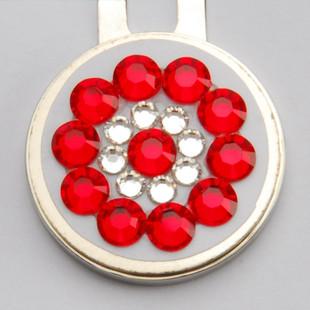 Blingo Ballmark with Hat Clip - Red/White