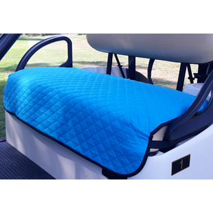 GolfChic Quilted Golf Cart Seat Cover - Turquoise/Black