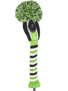 Just4Golf Hybrid Headcover - Lime/Black Vertical Stripes