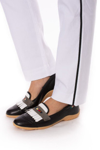 Golftini Trophy Pull-On Stretch Twill Trouser - White