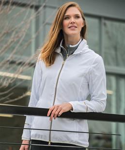 Sunice Blair Packable Wind Jacket w/ Hood - Black/Charcoal