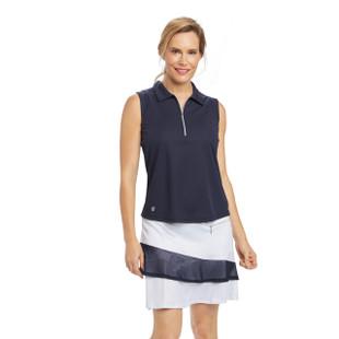 Katy Sleeveless Golf Polo Navy