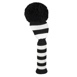 Just4Golf Driver Headcover - Black/White Wide Stripes