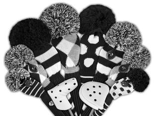 Just4Golf Fairway Headcover - Grey/Black Diamonds