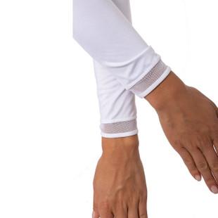 Golftini Long Sleeve Mesh Trim Tops