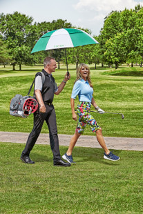 "Swing Control Masters 13"" Golf Short - White Leafy"