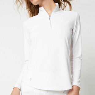 Georgia ICE Long Sleeve Polo - White