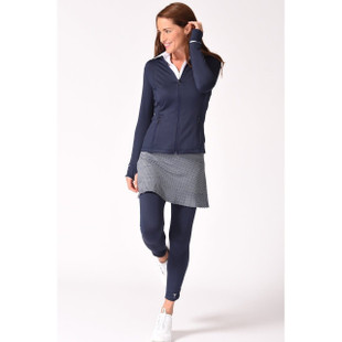 Golftini Rouched Navy Legging