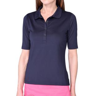 Golftini Tech Elbow Sleeve Fashion Polo - Navy