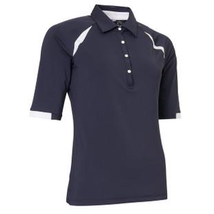 Abacus Cherry Half Sleeve Golf Polos - Navy