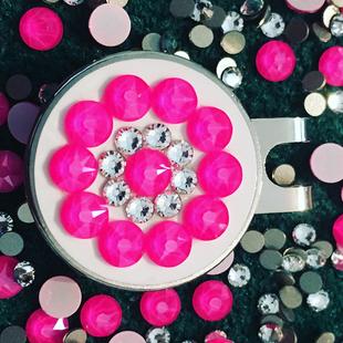 Blingo Ballmarker - Neon Pink/White