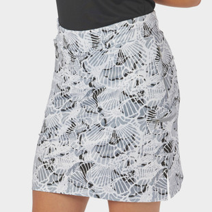 "18"" Wave Print Golf Skort Black/White"