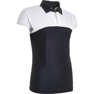 Abacus Vilna Cap Sleeve Polo - Black/White