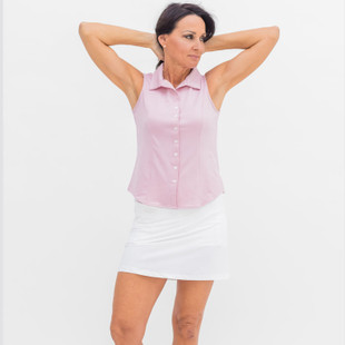 Marissa White Pleated Golf Skort