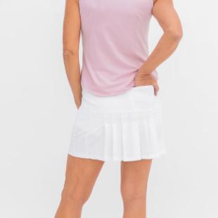 Amy Sport Marissa Pleated Golf Skort - White