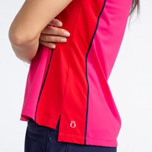 KINONA Button & Run Sleeveless Polo - Flamingo