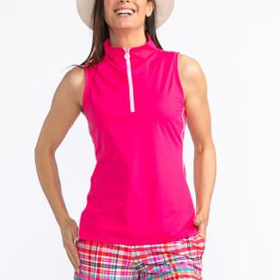 KINONA Keep it Covered Sleeveless Mock - Flamingo