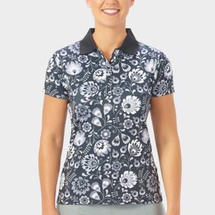 Nancy Lopez Beauty Short Sleeve Polo - Black