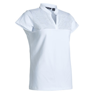 Abacus Lisa Cap Sleeve Polo - White