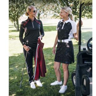Abacus Lisa Golf Skort - Black Flower