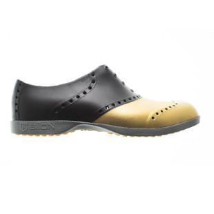 BIION Saddle Golf Shoe - Black/Gold